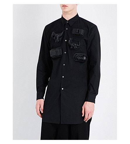 COMME DES GARCONS Toy-detailed regular-fit cotton shirt (Black