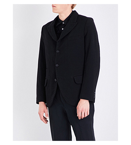 COMME DES GARCONS HOMME PLUS Forever regular-fit wool-blend jacket (Black