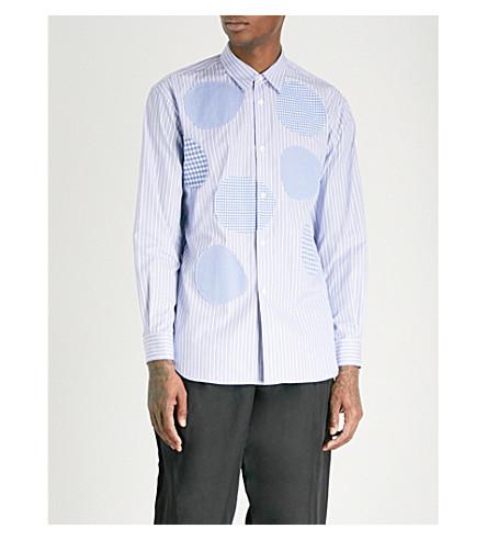 COMME DES GARCONS SHIRT Patchwork regular-fit cotton-poplin shirt (Stripe