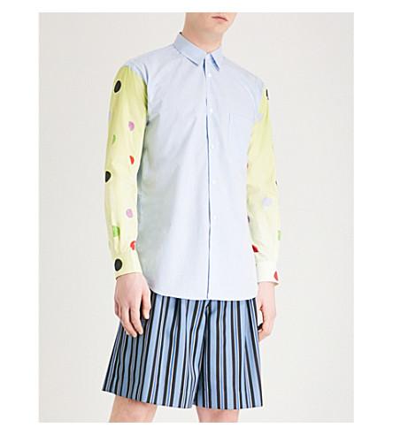 COMME DES GARCONS SHIRT Polka dot gingham oversized cotton-poplin shirt (Print+c