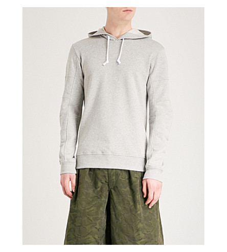 COMME DES GARCONS SHIRT Panelled jersey hoody (Grey