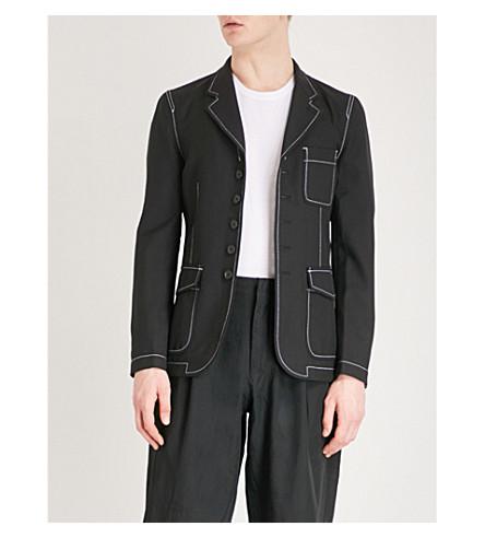 COMME DES GARCONS SHIRT Workstitch woven jacket (Black