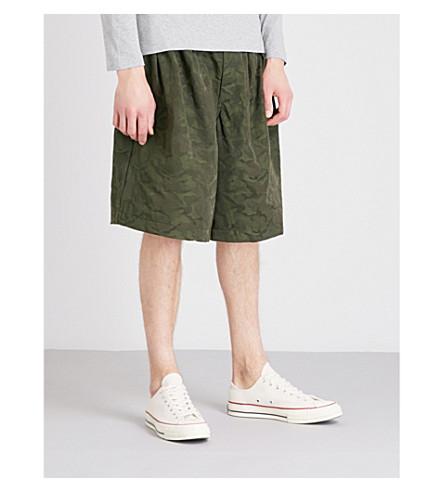COMME DES GARCONS BOY Camo-print wide-leg cotton shorts (Camo