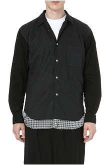 COMME DES GARCONS SHIRT Contrast hem cotton shirt