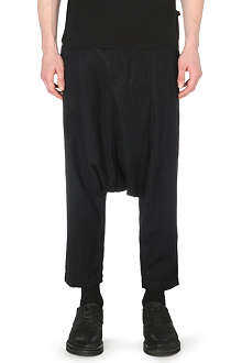 COMME DES GARCONS SHIRT Dropped-crotch twill trousers