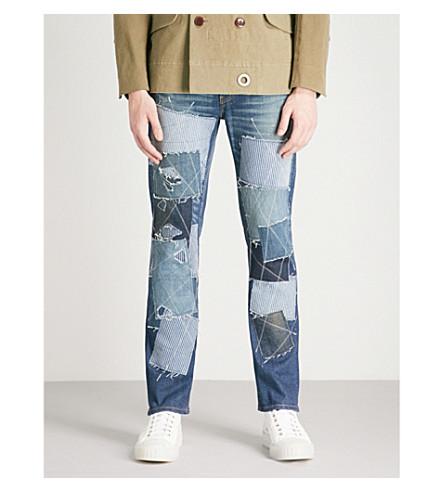 JUNYA WATANABE Junya Watanabe x Levi's patchwork regular-fit straight jeans (Indigo