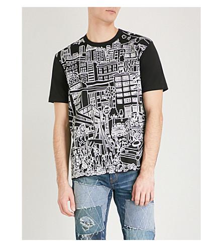 JUNYA WATANABE Graphic-print cotton-jersey T-shirt (White