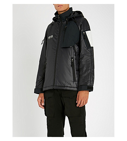 JUNYA WATANABE Hooded padded shell jacket (Black