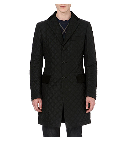 JUNYA WATANABE Quilted and wool-blend coat (Black