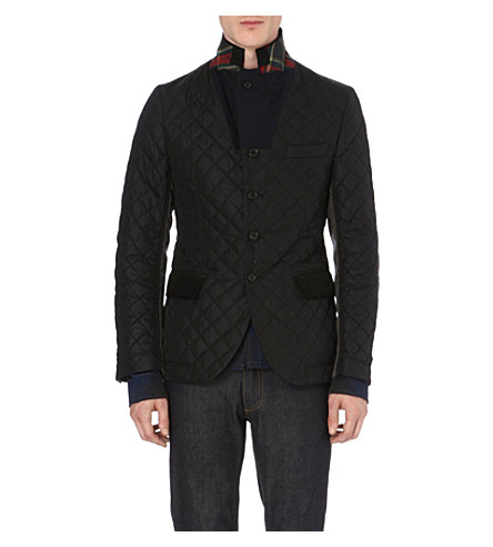 JUNYA WATANABE Quilted and wool-blend blazer (Black