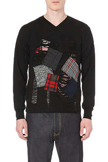 JUNYA WATANABE Patch-detailed knitted jumper