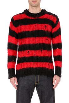 JUNYA WATANABE Striped mohair-blend jumper