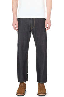 JUNYA WATANABE Cropped straight-leg loose jeans