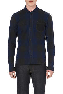 JUNYA WATANABE Checked cotton and wool shirt