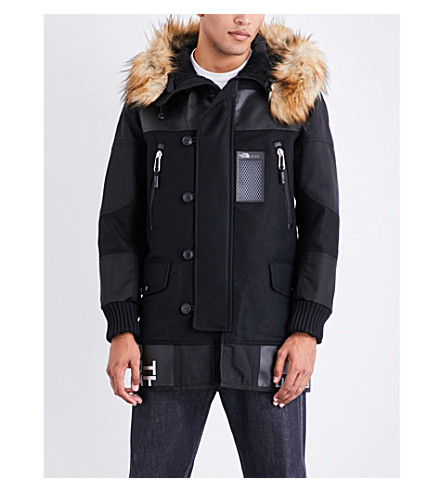 JUNYA WATANABE Junya Watanabe x The North Face wool-blend parka jacket (Black+x+black