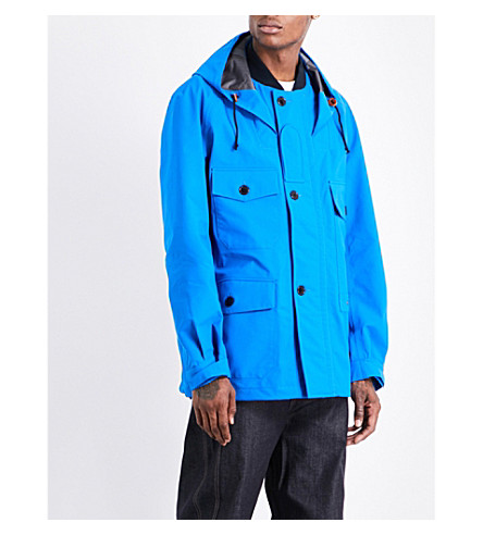 JUNYA WATANABE Hooded shell jacket (Blue