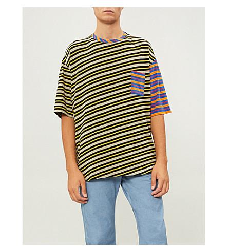 MARNI Contrast-stripe cotton-blend T-shirt
