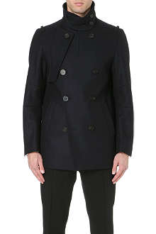 WOOYOUNGMI Panelled wool-blend peacoat