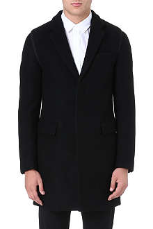 WOOYOUNGMI Contrast-trim wool coat