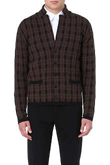 WOOYOUNGMI Plaid knit blazer