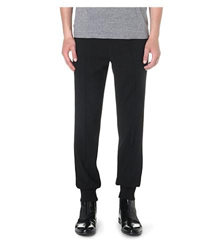 WOOYOUNGMI Cuffed wool-blend trousers (Black