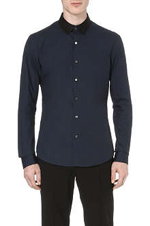 WOOYOUNGMI Contrast-collar cotton shirt