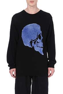 YOHJI YAMAMOTO Skull-intarsia jumper