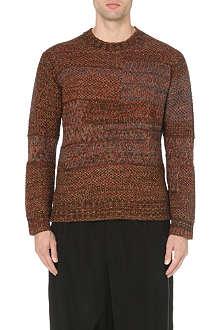 YOHJI YAMAMOTO Patchwork knitted jumper