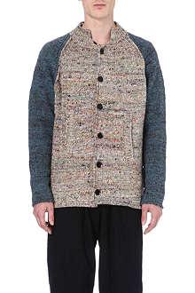 YOHJI YAMAMOTO Contrast-sleeve multicoloured cardigan
