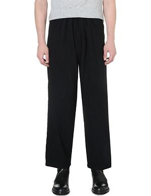 YOHJI YAMAMOTO Dropped-crotch wool trousers