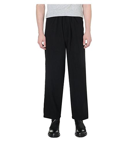 YOHJI YAMAMOTO Dropped-crotch wool trousers (Black