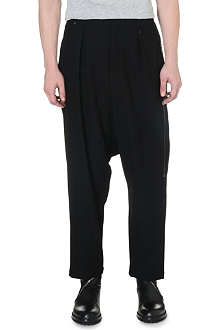 YOHJI YAMAMOTO Dropped-crotch pleated trousers