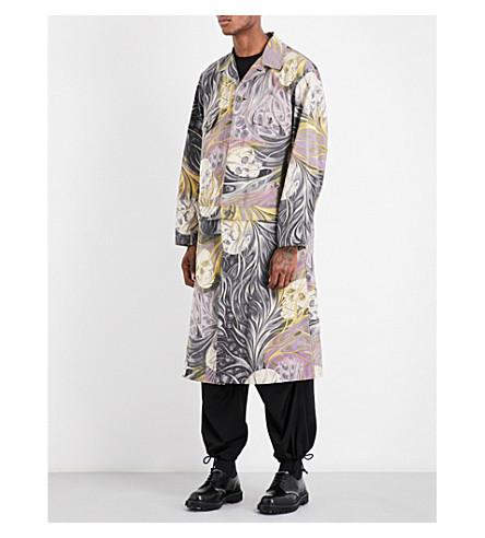 YOHJI YAMAMOTO Skull-pattern shell jacket (Grey