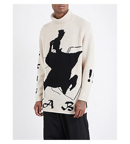 YOHJI YAMAMOTO Turtleneck wool jumper (Ivory