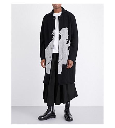 YOHJI YAMAMOTO Samurai wool cardigan (Black