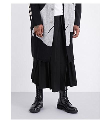YOHJI YAMAMOTO Hakama wide-leg cotton trousers (Black