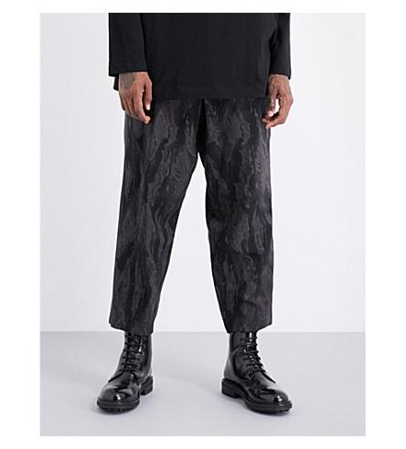 YOHJI YAMAMOTO Camo-print wool trousers (Black