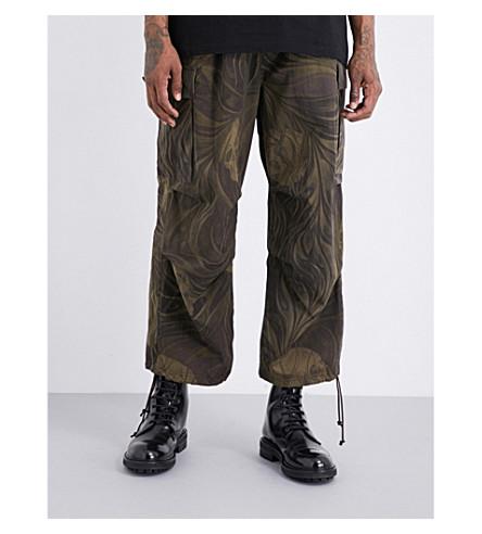 YOHJI YAMAMOTO Army cropped trousers (Khaki