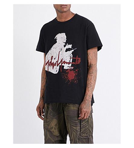 YOHJI YAMAMOTO Samurai cotton-jersey T-shirt (Black