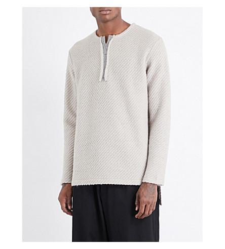 YOHJI YAMAMOTO Textured wool-blend jumper (Beige