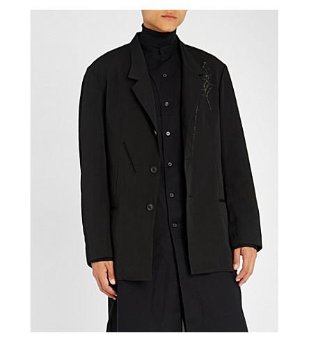 YOHJI YAMAMOTO Spider web-print wool blazer (Black
