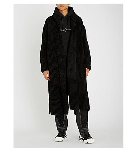 YOHJI YAMAMOTO Contrast-panel wool-blend coat