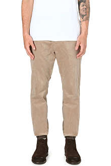 SACAI Elasticated-cuff corduroy trousers