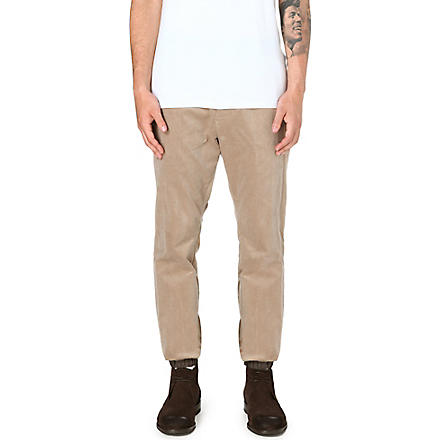 SACAI Elasticated-cuff corduroy trousers (Beige