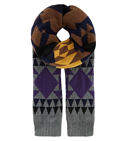 SACAI Aztec scarf (Grey