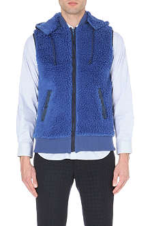 SACAI Patch fleece gilet