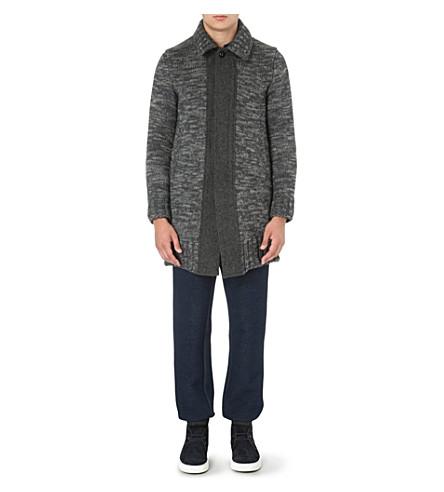 SACAI Knitted cardigan coat (Grey