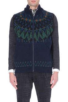 SACAI Nordic Fair Isle knitted gilet