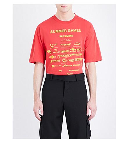 RAF SIMONS Summer Games cotton-jersey T-shirt (Red