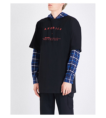 RAF SIMONS America cotton-jersey T-shirt (Black